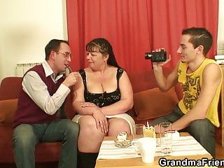 2 males film porn clips with old large scones woman