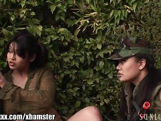 Sunlustxxx army angels group sex with strapons
