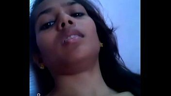 Indian desi lady making selfie movie scene for her man ally