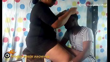 Hawt bbw south afro hair stylist group-fucked in her shop by bbc.