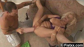 Tempting fisting woman stuffed hard