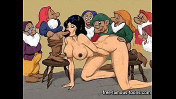 Festa del sesso anime di Biancaneve e nani