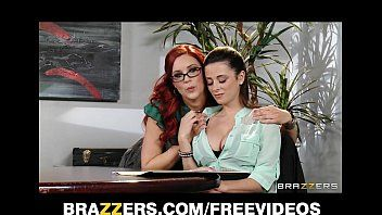 Corporalist redhead lesbo convinces her co-worker to experiment