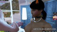 Virtual cg lalin girl hispanic sweetheart with large arse pumping in multiplayer game