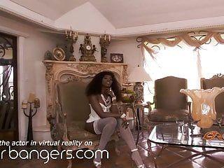 Vr bangers 2 donne afro di lusso acquisiscono il tuo cazzo, porno vr