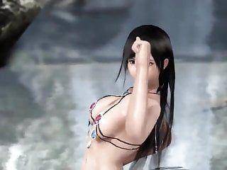 Kokoro cg dancing doa bouncing tits